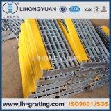 Pisadas de escalera de acero galvanizadas para el suelo de la estructura de acero
