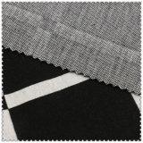 Weiße u. schwarze Baumwollstrickende Checks des Form-Kleides