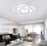 Iluminación cristalina montada cuadrado de acrílico contemporáneo del techo del LED