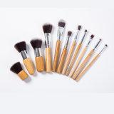 11 cepillos de la base de madera profesional de PCS cepillos del maquillaje de Kabuki