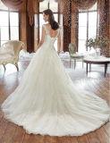 Tailles non définies minces chaudes A sans manche - ligne robe de mariage avec l'Applique