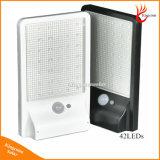 500 루멘 태양 강화된 LED 가벼운 PIR 운동 측정기 태양 램프 옥외 벽 램프 태양 정원 빛