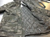 Camuflagem mais recente jaqueta de homens de design com fecho de correr à prova d'água