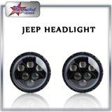 Linterna redonda de 60W LED para la viga alta-baja de la luz aprobada del jeep del PUNTO del Hummer H1 de Jk del Wrangler del jeep