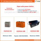 Pila secondaria solare del gel di Cspower 12V 160ah