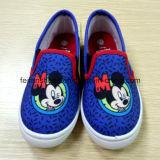Самая новая впрыска Cnavas детей обувает ботинки школы ботинок комфорта (FF921-4)