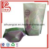 Bottom Stand up Flat Ziplock saco de embalagem de sementes plásticas