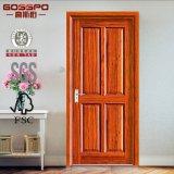 Puerta de madera sólida del panel americano del estilo 6 (GSP6-016)