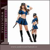 Traje do partido da bobina do festival do carnaval do oficial de polícia das mulheres de Halloween (TLQZ14249)