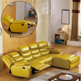 Sofa moderne de Recliner de fonction de massage de cuir de salle de séjour (UL-NS483)