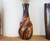 Bois normal de mangue de travail manuel fabriqué à la main en bois de vase