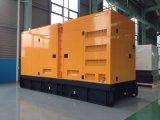 300kw/375kVA Doosan 방음 닫집 울안을%s 가진 디젤 엔진 발전기 세트