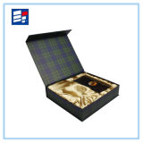 Caja de regalo impreso a mano de la joyería hecha a mano con la cartulina de papel