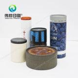 Caja redondo elegante envases de fantasía de papel de impresión de té Bote