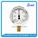 Compond 압력계 진공 압력 측정하 기름 압력계