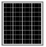 painel 60W-75W solar poli para a luz de rua solar
