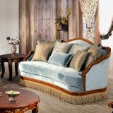 Il sofà del salone di Claissic ha impostato con il blocco per grafici di legno e del tessuto