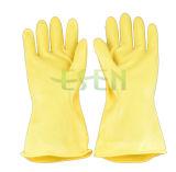 Gele RubberHandschoenen/de Handschoenen van het Latex van het Huishouden