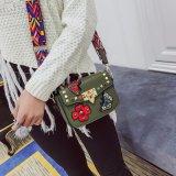 新しい流行の刺繍された財布PUの女性札入れ