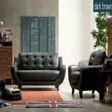 Insieme moderno del sofà del cuoio del salone di svago e del sofà del cuoio