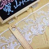 Merletto chimico di nuova di disegno della fabbrica delle azione del commercio all'ingrosso 11cm di larghezza del ricamo del merletto del poliestere del ricamo immaginazione di nylon della guarnizione per l'accessorio degli indumenti & le tessile domestiche