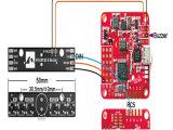 Ws2812b LED及び5V実行中ブザー6*RGBチップLED表示器