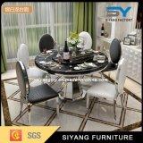 レストランの家具のステンレス鋼のダイニングテーブルの椅子の円形のダイニングテーブル