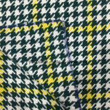 Controllare il verde & il colore giallo del tessuto delle lane di Houndstooth