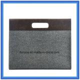Мешок руки компьтер-книжки войлока шерстей способа Eco-Friendly портативный, подгонянный мешок портфеля компьтер-книжки подарка с заключение кнопки (содержание шерстей 70%)