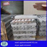 Treillis métallique carré galvanisé tissé 2mesh à 60mesh pour le filtre