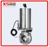 """Válvula borboleta de atuador pneumático Triclover Ss304 de aço inoxidável de 2,5 """""""