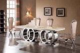 Ensemble de meubles pour hôtels Table à manger en marbre Rosegold (A6688-1)