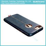 Аргументы за PU способа кожаный 5.5 iPhone 7 дюйма случая задней стороны обложки