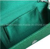 低価格の女性同価手の女性札入れの小さい金属きらめきの折り返しのクラッチのイブニング・バッグのハンドバッグ