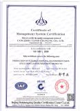 ISO9001 couplage d'hexagone du certificat DL