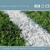 フットボール競技場の合成物質の草