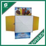 Farben-Drucken-gewölbtes Papier-Eiscreme-Kasten