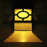 Piccolo indicatore luminoso di plastica alimentato solare della parete di colore giallo LED