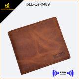 Вскользь кожаный бумажники кредитной карточки RFID людей