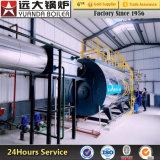暖房のための700kw 1400kw 2800kw 4200kwオイルかガス燃焼の熱湯ボイラー