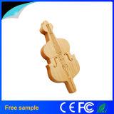 Clé de mémoire USB en bois promotionnelle 8GB de type de violon de guitare de Garunk