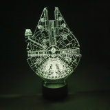 3D LEDのマルチ7つのカラー変更夜ライト