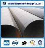 Riga saldata tubo d'acciaio di spirale del carbonio