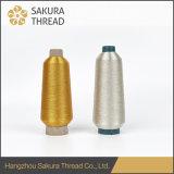 Cuerda de rosca metálica de clase superior y delicada del bordado de Sakura con 592 colores
