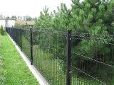 Pintura del PVC que dobla la cerca del acoplamiento de alambre protector