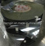 Fita de pano de acetato retardador de chamas preta com acrílico