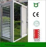 Fenster und Tür, Energiesparender einzelner glasierender Aluminiumluftschlitz Windows mit nicht thermischem Bruch-Profil