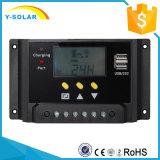 12V 24V 20A com indicador do LCD e o controlador solar duplo da carga do USB com Ce RoHS Sm20