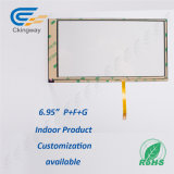 "6.95 ""4 Wire Resistive Touch Screen Glass"