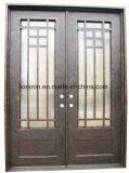 Portas da rua feitas sob encomenda bonitas superiores lisas da entrada do ferro da segurança